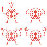 Brain power. Brain training vector illustration. Powerful brain Royalty Free Stock Photography