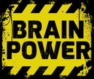 Brain Power-Zeichen Lizenzfreie Stockfotos