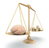 Brain price. 3D concept Royalty Free Stock Photo