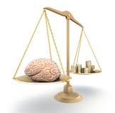 Brain price. 3D concept Royalty Free Stock Photo