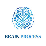 Brain Process Logo Illustration Design Stock Foto's
