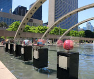 The Brain Project In Toronto. The Brain sculptures can be found at 50 Toronto locations,one of the location is in Nathan Phillips Square in Toronto, Canada Stock Photos