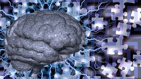 Brain Puzzle royalty illustrazione gratis