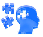 Brain puzzle with crystal effect Stock Photo