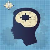 Brain puzzle Royalty Free Stock Photo