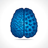 Brain with puzzle pieces stock vector. Conceptual idea silhouette image of brain with puzzle pieces stock vector Royalty Free Stock Photography