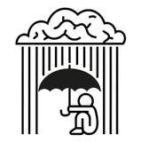 Brain-rain royalty free illustration