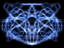Brain_reflected. Electricity in a brain - frontal version Royalty Free Stock Photos