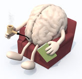 Brain relaxing on armchair Stock Photo