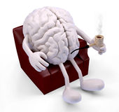 Brain relaxing on armchair Royalty Free Stock Images