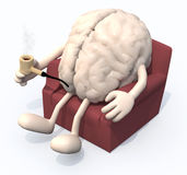 Brain relaxing on armchair Stock Images