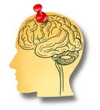Brain Reminder Photo libre de droits
