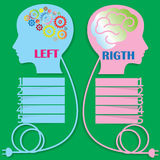 Brain Right and Left. White left brain hemisphere is different and has to add to your order to be completed stock illustration