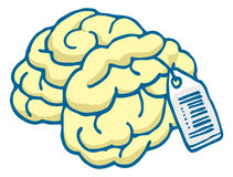 Brain for sale with price tag Royalty Free Stock Photos