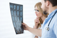 Brain scanning results Royalty Free Stock Photos