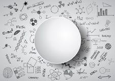 Brain science chalkboard Stock Photography