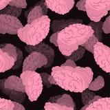 Brain seamless pattern. Human brains 3D background. Brain seamless pattern. Human brains 3D background Royalty Free Stock Photos