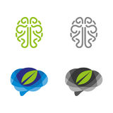 Brain. A set of brain icons Royalty Free Stock Image