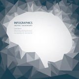Brain Shape Abstract Background illustrazione di stock