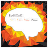 Brain Shape Geometric Abstract Background Imagenes de archivo
