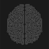 Brain Shape Maze Vector Design Los probleemconcept op vector illustratie