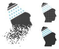Brain Shower Icon tramé pointillé dispersé illustration libre de droits