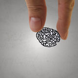 Brain sign as medical technology Royalty Free Stock Images