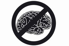 Brain sign Stock Photo