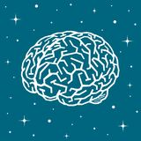 The brain in space among the stars Stock Photos