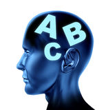 Brain speech reading writing therapy education Stock Image