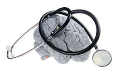 Brain and Stethoscope Royalty Free Stock Photography