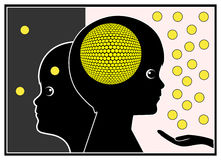 Brain Stimulation Royalty Free Stock Photography