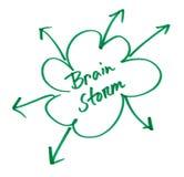 Brain Storm écrit en papier de wihite illustration stock