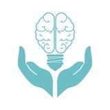 Brain storm with bulb Stock Photo