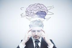 Brain storm concept Stock Image