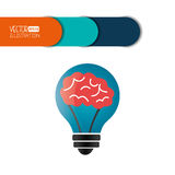 Brain storm design Royalty Free Stock Photo