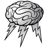 Brain Storm Illustration. A vector cartoon illustration of a Brain Storm concept Stock Photos