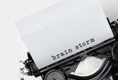 Brain storm on an old typewriter Stock Image