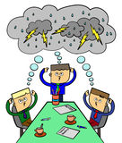 Brain storm team royalty free illustration