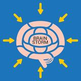 BRAIN STORM Royalty Free Stock Images