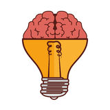Brain Storm With Bulb Royalty Free Stock Photography