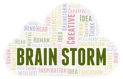 Brain Storm word cloud. Wordcloud made with text only royalty free illustration