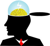 Brain storming,. Vector illustration for a business man brain storming, metaphors Royalty Free Stock Photo