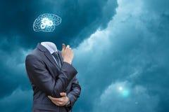 Brain storming businessman . Stock Images
