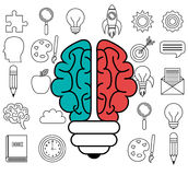 brain storming design Royalty Free Stock Photo