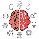 brain storming design Stock Image