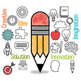 brain storming design Stock Images