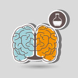 Brain storming design. Illustration eps10 graphic Stock Photography