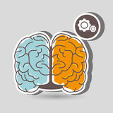 Brain storming design. Illustration eps10 graphic Royalty Free Stock Photos