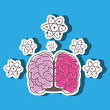 Brain storming design. Illustration eps10 graphic Royalty Free Stock Image